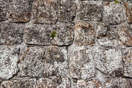 Wall of large stones. The Mayan Great Piramide. Uxmal. Stockfoto