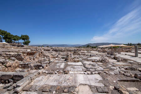 Ruins and mosaics of an ancient city Zippori, National Park, Israel. Ancient city Zippori with its ruins and mosaics is a famous tourist spot