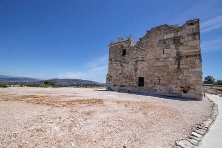 View of the ancient citadel of the historic city of Ziporyn, National Park, Israel. Tourism and travel