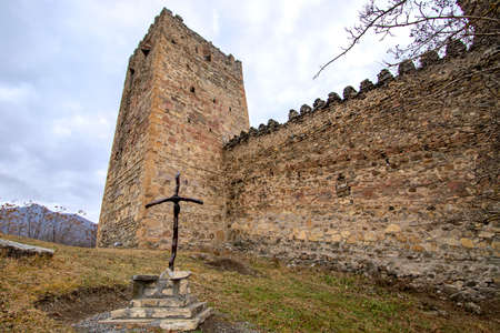 Historical Ananuri Fortified Castle on the Aragvi River in Georgia
