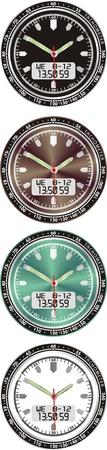 Vector electronic dial watch whis arrow Vector