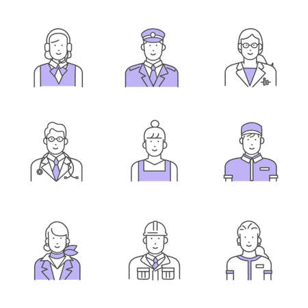 Essential Worker's Illustration Material Set