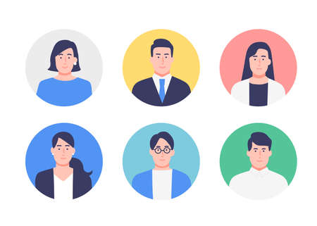 Business Person Avatar Icon Set