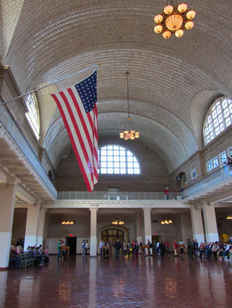 great hall: Great Hall, Ellis Island Museum, New York Editorial