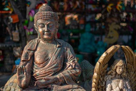 Buddha figure in a state of ceramic meditation