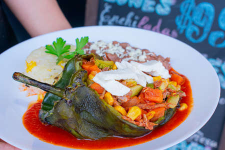 delicious chile relleno with mexican ingredients