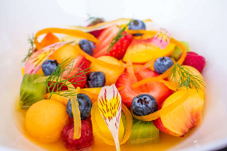 Specially prepared fruits prepared with culinary art