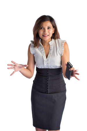 Crasy businesswoman