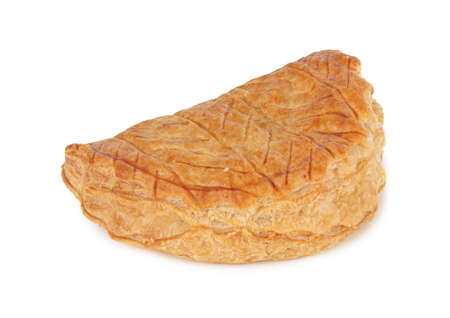 Apple turnover on a white background