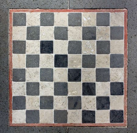 Outdoor Marble Chessboard photo