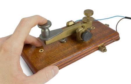 telegrama: Clave de telégrafo Foto de archivo