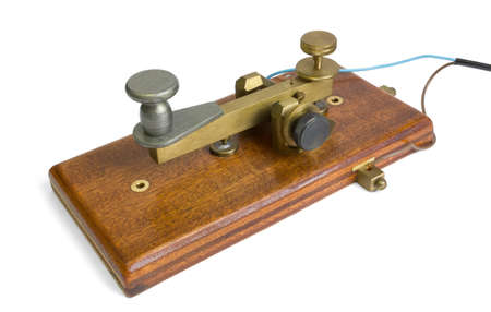 telegram: Telegraph Key Stock Photo