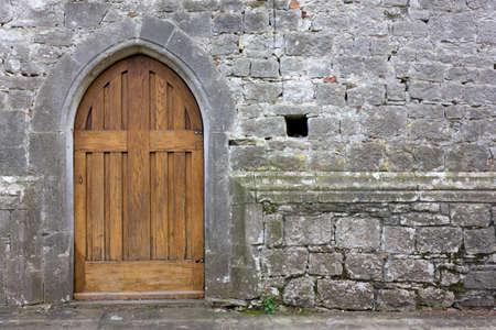 Old Church Back Door Reklamní fotografie - 27464600