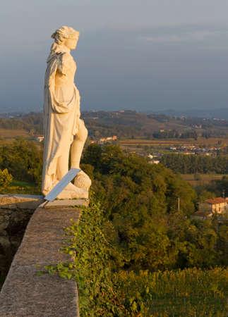 neoclassic: Neoclassic Statue on the Terrace of Rosazzo Abbey in Friuli, Italy