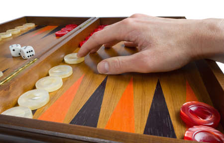 Playing Backgammon photo