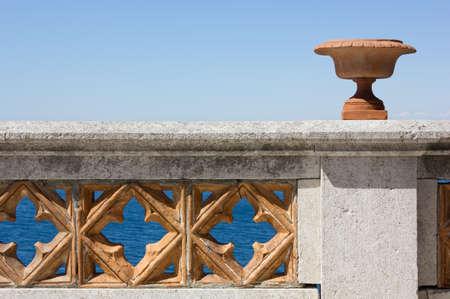 parapet wall: Terrace on the Sea