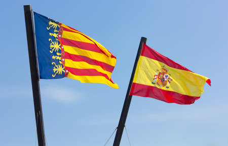 valencian: Valencian Community and Spanish Flags