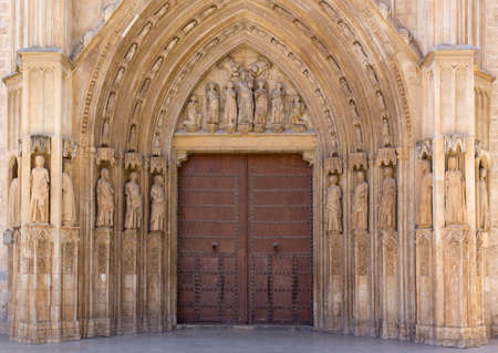 holy mary: The Palau Door of the Valencia Cathedral, Spain