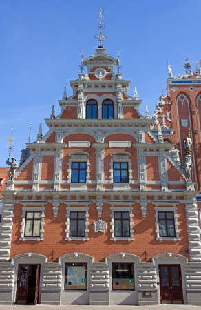 blackhead: Part of the House of the Blackheads in Riga, Latvia