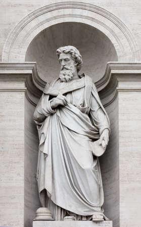 neoclassic: Neoclassic Marble Statue in its Niche Stock Photo