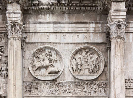 constantine: Close-up on the Arch of Constantine in Rome