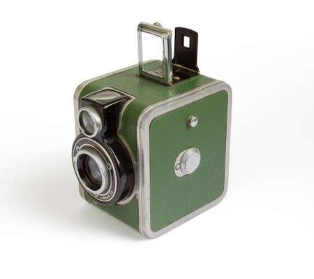 compact camera: 1940s Vintage Camera Stock Photo