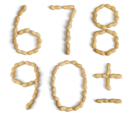 numers: Numers and Symbols Made of Peanuts