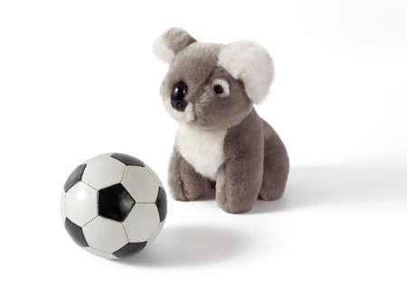 plushy: Koala Plushy With Soccer Ball
