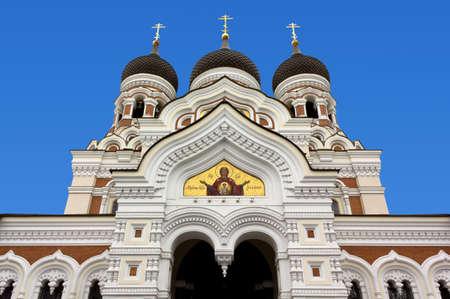 nevsky: Alexander Nevsky Orthodox Cathedral in Tallinn Stock Photo