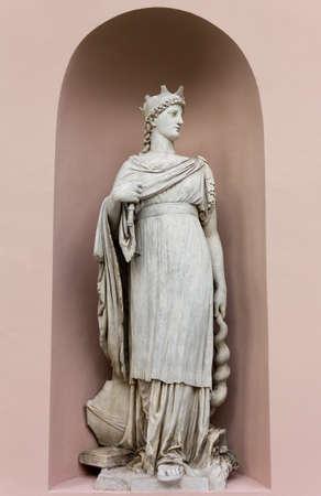 neoclassic: Neoclassic Marble Statues its Niche