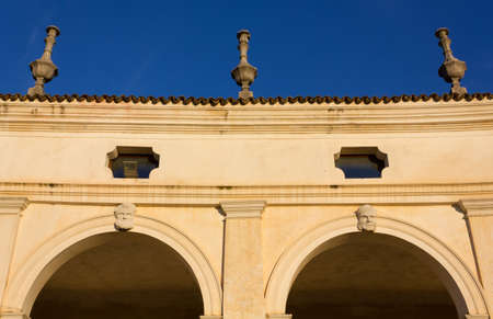 Detail of the colonnade of Villa Manin in Friuli, Italy Editorial