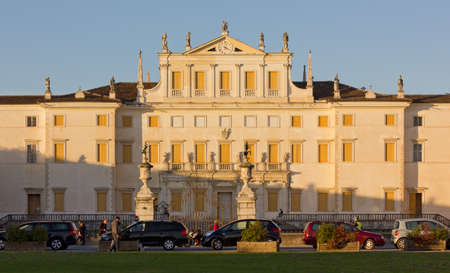 Sunset view of Villa Manin, in Friuli, Italy