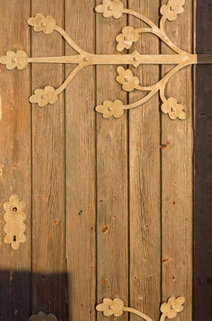 country church: Old wooden country church door