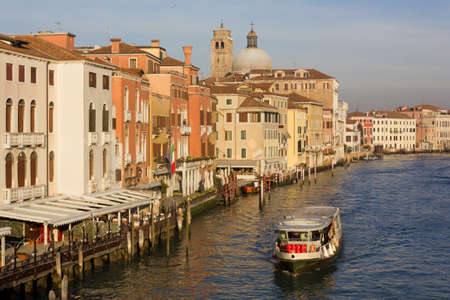 grande: Canal Grande in Venice on a winter late afternoon