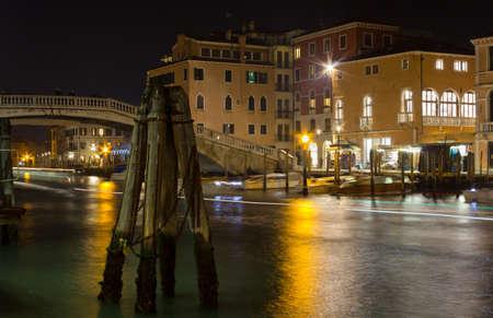 grande: Canal Grande in Venice, Italy, at night