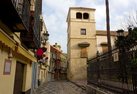 Picasso Museum tower in Calle San Agustin in Malaga, Spain
