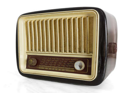 hertz: Front view of a vintage radio tuner