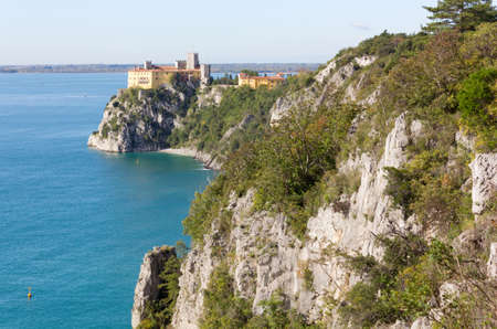 Duino cliffs and castle near Trieste, Italy