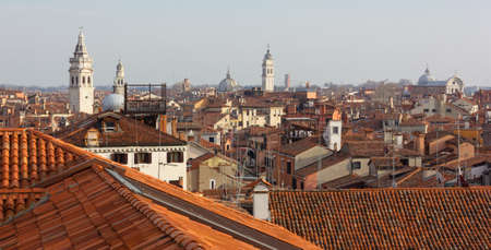 Rooftops of Venice, Italy, in a winter afternoon