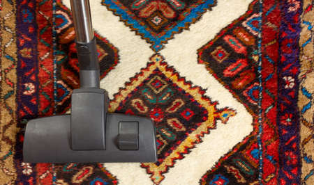 Close-up of a vacuum cleaner on an oriental carpet Reklamní fotografie - 125550263