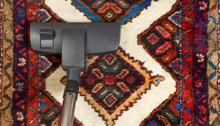 Close-up of a vacuum cleaner on an oriental carpet Reklamní fotografie - 125550274