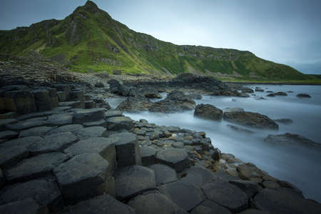 The basalt columns of the Giant photo