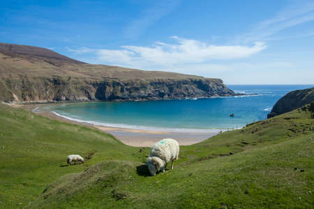 The Silver Strand beach in Glencolmcille Co. Donegal Ireland photo