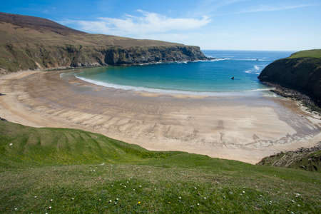The Silver Strand beach in Glencolmcille Co. Donegal Ireland