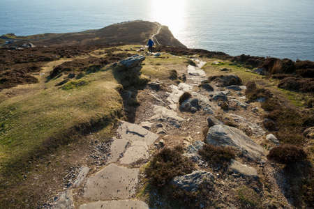 stepping stone: Landscape photo of the stepping stone path at Slieve League cliffs in Co. Donegal in Ireland