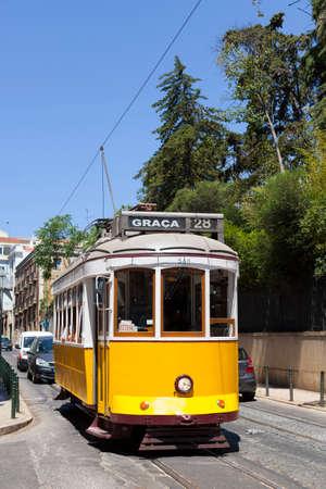 28: The famous tram 28 in Lisbon.