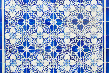 Beautiful patterned Azulejo tiles that can be found on houses in Lisbon
