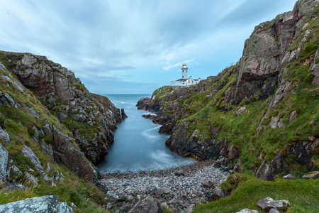 lighthouse at night: Fanad lighthouse in Co. Donegal at dusk