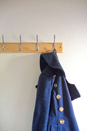 duffle: Coat on a hanger