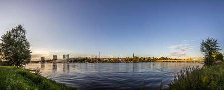 Panorama over Umea, Sweden photo